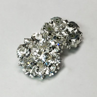 C-1341-Crystal Rhinestone Button
