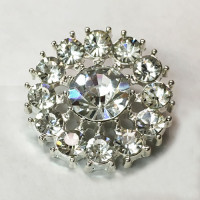 C-1345-Crystal Rhinestone Button