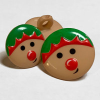 CH-2816 Christmas Elf Button - 2 Sizes