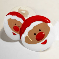 CH-2818 Christmas Santa Button - 2 Sizes