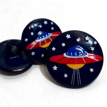 CH-261 Flying Saucer Button - 2 Sizes