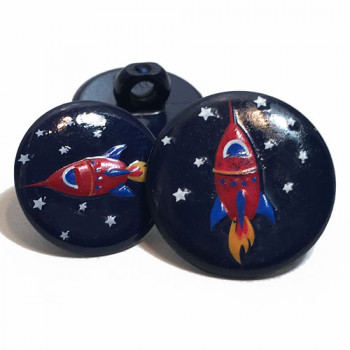 CH-265 Rocket Ship Button - 2 Sizes
