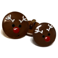 CH-2817 Christmas Reindeer Button - 2 Sizes