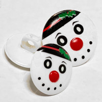 CH-2819 Christmas Snowman Button - 2 Sizes
