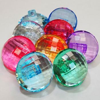 """CL-1751 - Acrylic 1"""" Button, 7 Colors"""