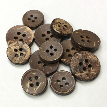 CO-109 Raw Coconut Button - 2 Sizes, Priced by the Dozen