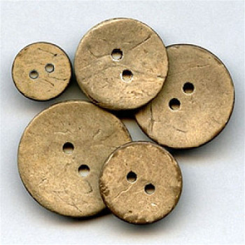 CO-612-Two Hole Coconut Button - 9 Sizes, Priced by the Dozen