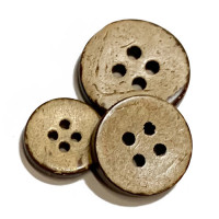 CO-614-Four Hole Coconut Button - 6 Sizes, Priced by the Dozen