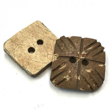 CO-676 - Square Coconut Button, 2 Sizes