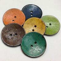 """CO-7121 Large Coconut Button, 2"""" - 6 Colors"""