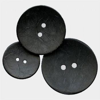 CO-712C Large Black Coconut Button, 3 Sizes