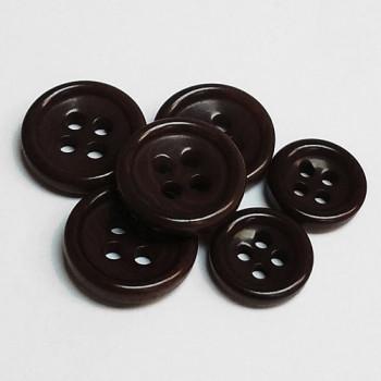 CZ-35 - Brown Corozo Shirt Button - 3 Sizes, Priced by the Dozen