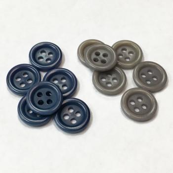 CZ-42-D Genuine Corozo Shirt Button, 2 Colors - Priced by the Dozen