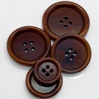 CZ-45 Genuine Corozo Button in Saddle Brown - 5 Sizes