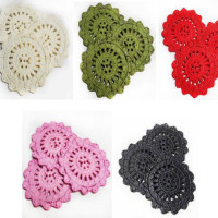 DB-1012 - Crochet-Look Button, Sold in Sets of 3 (Same Color) - 5 Colors