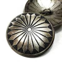"DM-10 Concho Style Metal Button, 1-3/8"""