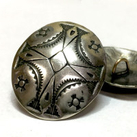 DM-19 Concho Style Metal Button