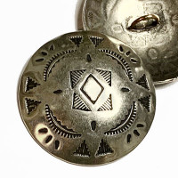 DM-30 Concho Style Metal Button, 37mm