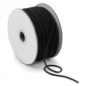 EL-1005 Black, 2mm Soft Knit Elastic Cording — Sold in lengths of 36 Yards