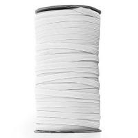 EL-1281 White, 1/4 Inch Braided Elastic — Sold by 144 Yard Roll