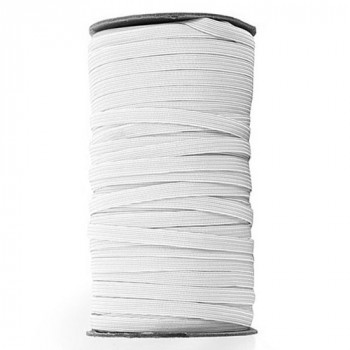 EL-1281 White, 1/4 Inch Braided Elastic — Sold by 144 Yard Roll