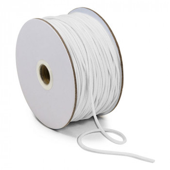 EL-1004 White, 2mm Soft Knit Elastic Cording — Sold in lengths of 36 Yards