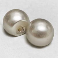 "FB-6546 - Large White Full Ball Pearl Button, 11/16"" - Priced Per Dozen"