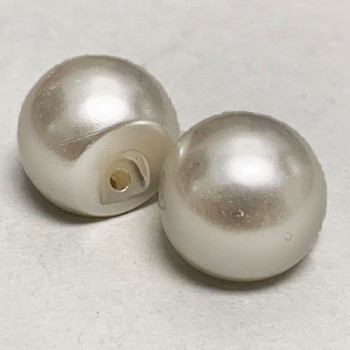 "FB-6546 - White Full Ball Pearl Button, 11/16"" - Priced Per Dozen"