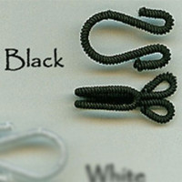 FH-200-Large Fabric Hook and Eye (Black Only)