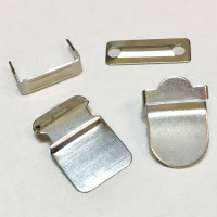 FSN-04 - Nickel Finish 4-Part Pant Closures, Sold per Pack of 4 Sets