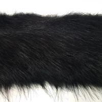 FUR-182 BLACK FAUX FOX FUR Trim  4 inch