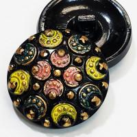 """G-1121 Multicolor Glass Button 1 1/8"""""""