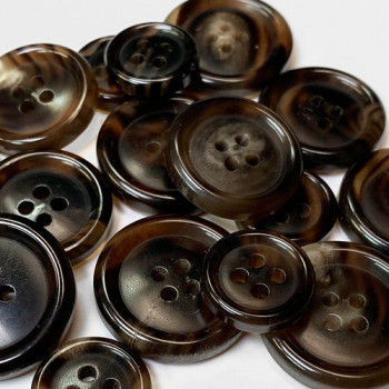 GH-06 Brown Genuine Horn Suit Button, 3 Sizes
