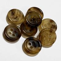 GHS-100  Genuine Light Brown Horn Shirt Button - 2 Sizes