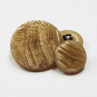 H-1282- Real Natural Look Shank Button, 4 Sizes