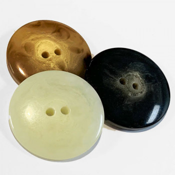 """H-5115 Large Horn Look Button - 3 colors, 1-3/8"""""""