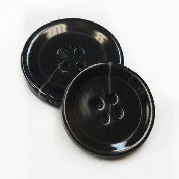 H-9920-Mottled Black Fashion Button - 2 Sizes