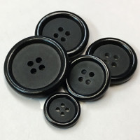 HM-001 Black Suit, Jacket, and Overcoat Button, 5 Sizes
