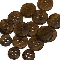 HN-111 Matte Tortoise Shirt Button - 2 Sizes, Priced per Dozen