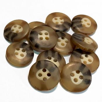HN-113  Brown Pant Button, Priced per Dozen