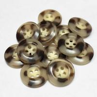 HN-114  Mottled Brown Pant Button, Priced per Dozen