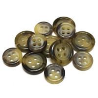 HN-203 Brown Sport Shirt Button - 2 Sizes, Priced per Dozen