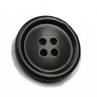 """HN-3100-D Satin Black Pant Button, 5/8"""" - Sold by the Dozen"""