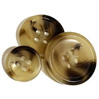 HNX-05- Light Brown, Imitation Horn Suit Button - 3 Sizes