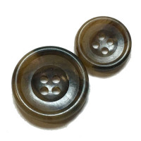 HNY-130  Brown Suit Button - 2 Sizes