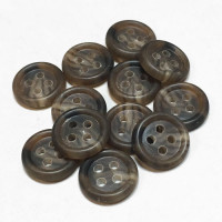 HS-315 Brown Sport Shirt Button, Sold by the Dozen