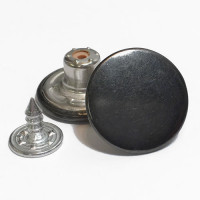 JB-11  Jean Button - Gunmetal Finish, Sold by the Dozen