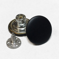 JB-17  Jean Button - Matte Black Finish, Sold by the Dozen