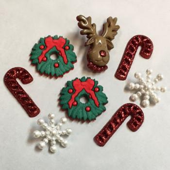 JJ-0266 Christmas Buttons