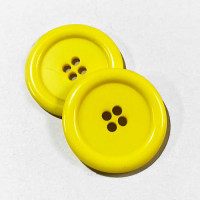"KB-808 Large, 1"" Yellow Button, Priced by the Dozen - (SAVE WHEN BUYING 12 DOZEN OR MORE!)"